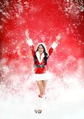 Christmas new year santa girl — Zdjęcie stockowe