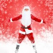 Happy Santa Claus full length portrait hands wide open — ストック写真