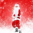 Santa Claus dancing — Stock Photo