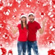 Christmas excited couple — Stock Photo #34903751