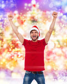 Christmas man excited — Stock Photo