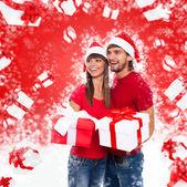 Christmas holiday couple — Stock Photo