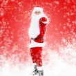 Santa Claus full length portrait pointing at you — Stock Photo
