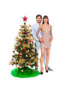 Christmas holiday happy couple — Stock Photo