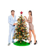 圣诞假期幸福的情侣 — 图库照片