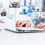 Businessman working laptop — Stock fotografie