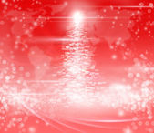 Christmas tree abstract red background — Stock Photo