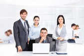 Happy group business people smile — Stock Photo