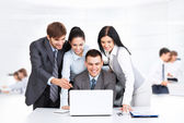 Business people working looking to laptop screen — Stock Photo