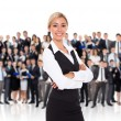 Businesswoman human resource leader — Stock Photo #36850203