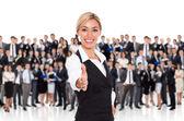 Businesswoman handshake — Stock Photo