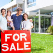 Family hold for sale sign — Stock Photo #41744165
