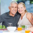 Mature couple having lunch — Stock Photo #41744439