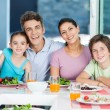 Family having lunch at home — Stock Photo #41744449