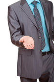 Businessman asking for money — Stock Photo