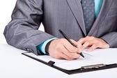Biznesmen z dokumentów — Zdjęcie stockowe