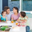 Big family dinner at home — Stock Photo #43555029