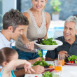 Big family dinner at home — Stock Photo #43555127