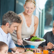 Big family dinner at home — Stock Photo #43555133
