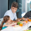 Big family dinner at home — Stock Photo #43555167