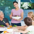 Big family dinner at home — Stock Photo #43555231