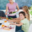 Big family dinner at home — Stock Photo #43555253