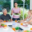 Big family dinner at home — Stock Photo #43555267