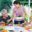 Big family dinner at home — Stock Photo #43555279