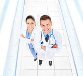 Doctors with stethoscope — Stock Photo
