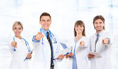 Doctor team with stethoscopes — 图库照片