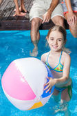 Girl swimming in pool — Stock Photo