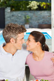 Couple having lunch at home — Stock Photo