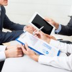 Businesspeople meeting — Stock Photo