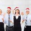 Businesspeople in santa hat — Stock Photo #43565969