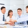Business people team at office meeting — Stock Photo
