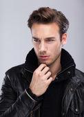 Handsome serious fashion man — Foto Stock