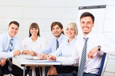 Business people working document — Stock Photo