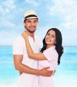 Couple on summer vacation — Stock Photo