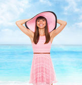 Woman on summer vacation — Stock Photo