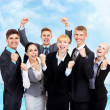 Successful excited Business people — Stock Photo