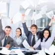 Excited happy business people — Stock Photo #51025443