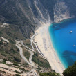 Sunny summer day at Myrtos Beach in Kefalonia island in Greece — Stock Photo