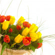 Stock Photo: Bouquet tulips , isolated