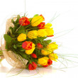 Bouquet tulips , isolated — Stock Photo #19969837