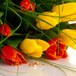 Bouquet tulips - Stock Photo