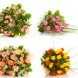 Stock Photo: Set flowers, isolated