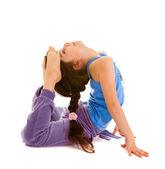 Girl gymnast , isolated — Stock Photo