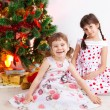 Royalty-Free Stock Photo: Girls at a New Year tree