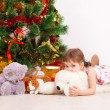 Girl , Christmas — Stock Photo