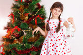 Girl , Christmas — Stockfoto